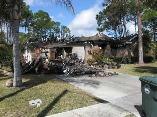 Residential House Fire Total Loss